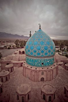 Remarkable Blue Dome .. Mosque in Iran - Iranian Islamic Architecture