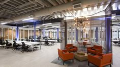 Spark Coworking Space Baltimore, is a collaborative coworking space, with private and shared offices for entrepreneurs. In the Offices at Power Plant Live! Terrace Restaurant, Cool Office Space, Balkon Design, Shared Office, Apartment Communities, Office Environment, Higher Design, Coworking Space, Create Space