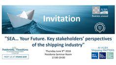 """Το ALBA συμμετέχει στα #Ποσειδώνια2016 και πραγματοποιεί σεμινάριο με τίτλο """"SEA… Your Future. Key stakeholders' perspectives of the shipping industry"""" Το #ALBA Graduate #Business School at The #American #College of #Greece θα συμμετέχει στα #Posidonia2016, τη σημαντικότερη διεθνή ναυτιλιακή έκθεση που θα πραγματοποιηθεί στην Αθήνα από τις 6 έως τις 10 Ιουνίου 2016, στο #MetropolitanExpo. Καθηγητές, Υπεύθυνοι Προγραμμάτων, και φοιτητές του ALBA, θα βρίσκονται στο περίπτερο 2237 (Hall 2). Business Invitation, Business School, Innovation, Graduation, Teaching, Moving On, Education, College Graduation, Onderwijs"""