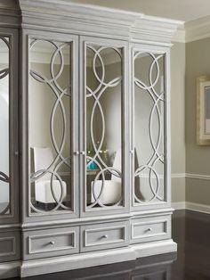 East Hampton Display/Media Cabinet with Mirrored Doors - Habersham Home