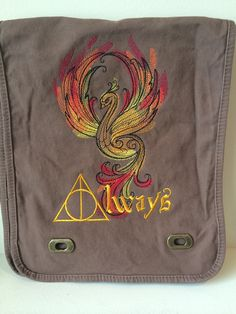Harry Potter messenger bag tote rucksack by OffTheHookbyLora, $29.99