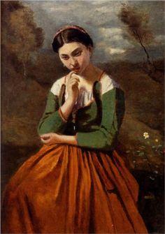 Meditation - Camille Corot