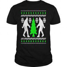 Cool  Bigfoot Christmas Holiday Sweater T-Shirts