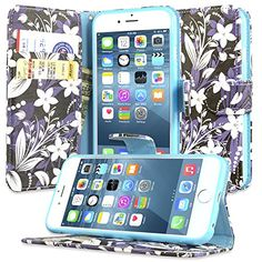 iPhone 6 Case, Dimaka Floral Pattern Flower Wallet Case, with Flip Stand Card Slots Cash Compartment, Premium PU Leather with Strap Hole for iPhone 6 / iPhone 6S - Paris Vogue Dimaka http://www.amazon.com/dp/B018K1UKW8/ref=cm_sw_r_pi_dp_NQLIwb0ERJ9NX