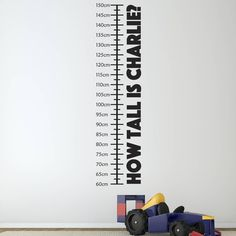 Are you interested in our Personalised wall sticker? With our children height chart you need look no further.