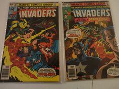 Vintage 2 Marvel Comic Group The Invaders Comic Books Sept & May 1979 Find me at www.dandeepop.com