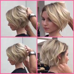 Short bob hairstyles 601582462701588998 - Short Haircuts for Women with Round F. - Short bob hairstyles 601582462701588998 – Short Haircuts for Women with Round Faces Source by wo - Short Hairstyles For Thick Hair, Cute Short Haircuts, Round Face Haircuts, Girl Short Hair, Curly Hair Styles, Easy Hairstyles, Pixie Haircuts, Haircut Short, Chin Length Hair Styles For Women
