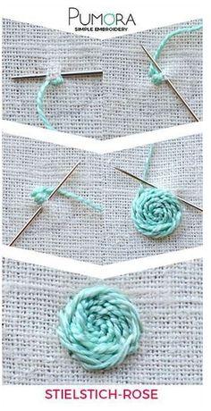 Eu Amo Artesanato: Embroidery step by step