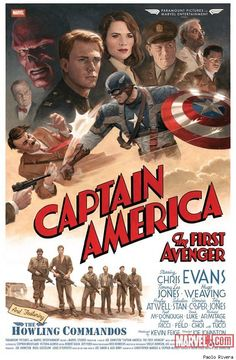 hundredpercentsd: This retro style poster was made by artist Paolo Rivera. This poster is not available anywhere else because it was only made for the cast and crew who worked on the film Captain America: The First Avenger. Poster Marvel, Marvel Movie Posters, Avengers Poster, Movie Poster Art, Film Posters, Fan Poster, Captain America Poster, Chris Evans Captain America, Captain America Aesthetic