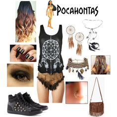 """""""Punk Rock Pocahontas Outfit"""" by casey-carpenter on Polyvore"""