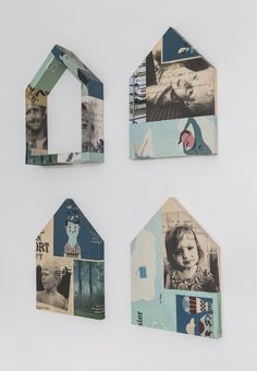 industrial family friendly home / sfgirlbybay like the idea of collae artwork to display family pics Shape Collage, Collage Art, San Francisco Girls, Diy Y Manualidades, Miniature Houses, Scandinavian Home, Little Houses, Painting On Wood, Art Lessons