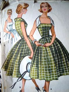 Vintage 1950s McCalls 4428 Wide Collar Flared by FoxVintageUk