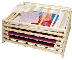 art drying rack could easily be diy with cheap lumber and wood glue