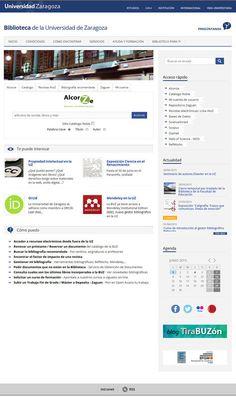 Web de la BUZ (junio 2015) | por Biblioteca de la Universidad de Zaragoza