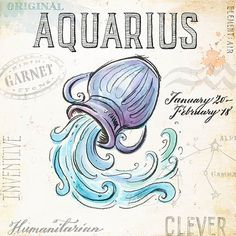 Best Aquarius Tattoos For Men and Women Aquarius Symbol, Aquarius Tattoo, Astrology Aquarius, Aquarius Love, Aquarius And Libra, Zodiac Art, Zodiac Signs, Horoscope Signs, Aquarius Birthday