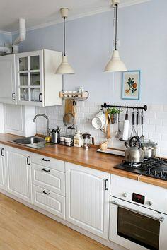 Скандинавский стиль в интерьере. Galley KitchensCottage KitchensFarmhouse KitchensSmall  KitchensBeautiful KitchensKitchen DecorKitchen IdeasApartment ...