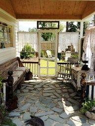 """Kim's pretty """"porch"""","""