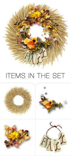 """""""Fall Wreath"""" by chileez ❤ liked on Polyvore featuring art"""