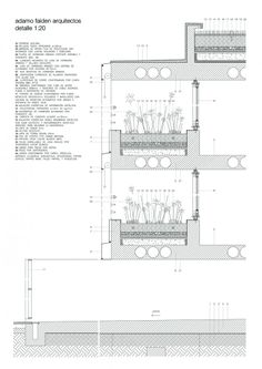 Galerie von Once Building / Adamo-Faiden - 16 Detail Architecture, Architecture Graphics, Green Architecture, Architecture Drawings, Landscape Architecture, Architecture Student, Roof Repair Cost, Master Thesis, Wall Section Detail