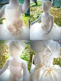 Flowergirl Tutu Dress Ivory tutu dress by pinkgiraffebowtique, $94.95