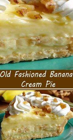 Cream Pie Recipes, Tart Recipes, Sweet Recipes, Old Fashioned Banana Cream Pie Recipe, Banana Cream Pies, Banana Recipes, Banana Pie Recipe, Delicious Desserts, Easy Banana Desserts
