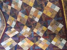 Batik fabric Bed Quilt handmade by TheRetiredQuilt on Etsy, $375.00