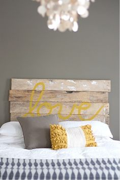 Love headboard. How cool and creative is this?