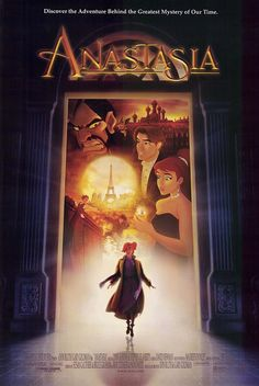 Anastasia is a 1997 American animated musical fantasy drama film produced by Fox Animation Studios and distributed by Century Fox. Directed by former Disney animation directors Don Bluth and Gary Goldman, Princesa Anastasia, Disney Movie Posters, Disney Movies, Disney Music, Disney Songs, Cartoon Movies, Disneyland Movies, Thalia, Anastasia Film