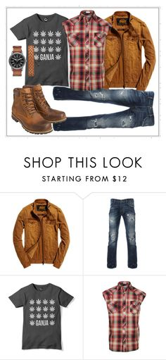 """""""classic plaid"""" by loveanrisonohara ❤ liked on Polyvore featuring Superdry, Earthkeepers By Timberland, Arizona, men's fashion, menswear, plaid and WardrobeStaples"""