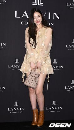 Sulli looking gorgeous at Lanvin Event