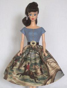 The Hunt -  Vintage Barbie Doll Dress Reproduction Barbie Clothes on eBay http://www.ebay.com/usr/fanfare1901?_trksid=p2047675.l2559