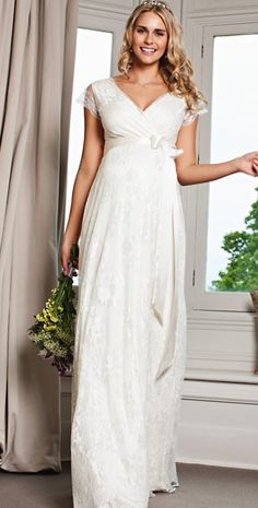 Eden Maternity Gown Long (Ivory Dream) by Tiffany Rose