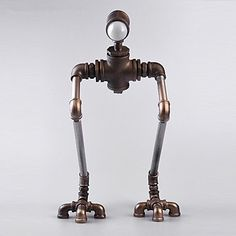 CA New Robot Light Modern Handmade Industrial Vintage Water Pipe Plumbing Pipe Robot Desk Lamp Novelty Iron-B007 CA Light http://www.amazon.ca/dp/B017W9R7P2/ref=cm_sw_r_pi_dp_UKNuwb1PS482H