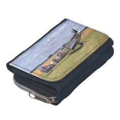 Spitfire T9 wallet Beautiful dark denim custom wallet with full-length bill pocket, zipper coin purse, five credit card pockets, and ID card window. #aircraft