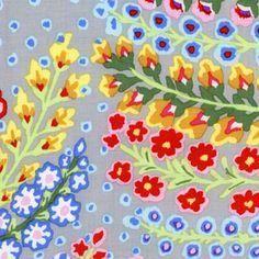 Kaffe Fassett - Kaffe Prints - Persian Vase in Grey