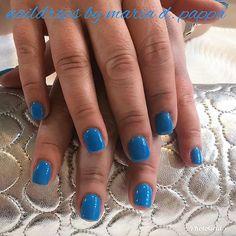 #manicure #bluenails #rocknails