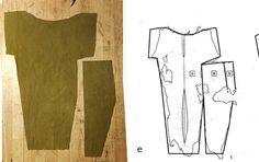 Tom Jersøs eksperiment med at rekonstruerer en kofte fra Hedebyfragmenter. Her er et ærme.