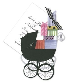 Baby Buggy Invitations - Stevie Streck Designs (