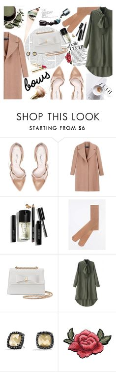 """""""Put a Bow on It! Cool Neutrals!"""" by tinchy ❤ liked on Polyvore featuring Dolce&Gabbana, Oscar de la Renta, Rochas, Bobbi Brown Cosmetics, Dorothy Perkins, WithChic, David Yurman, Max Factor, cool and GREEN"""