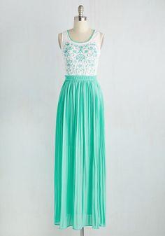 Vine Your Niche Dress. Youve never felt more you as you do when you don this feminine maxi dress. #blue #modcloth