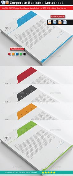 Bes Letterheads Stationery Print Template PSD, Vector EPS, Vector AI. Download here: http://graphicriver.net/item/bes-letterheads/11204451?s_rank=1768&ref=yinkira