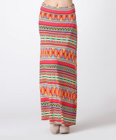 Look what I found on #zulily! Orange & Yellow Tribal Maxi Skirt by BOLD & BEAUTIFUL #zulilyfinds