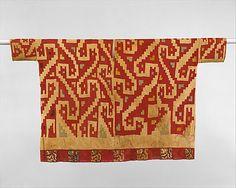 Tunic, Moche-Huari, Peru, 7th-9th century. Metropolitan Museum of Art, online collection.