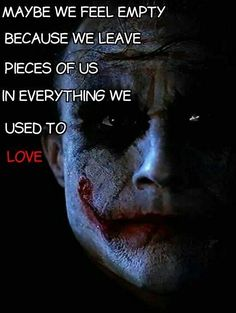"""""""Maybe we feel empty because we leave pieces of us in everything we used to love"""" ~ R. M. Drake"""