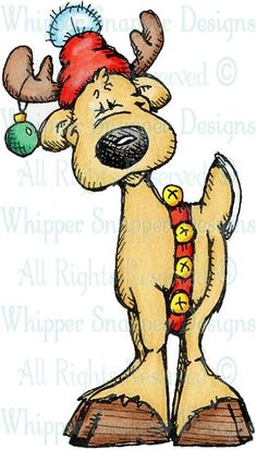 Rodney Reindeer - Christmas Images - Christmas - Rubber Stamps