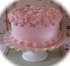 Fake Rosette Cake Your Choice 1 Rosette Frosting Color Approx. x Fab Photo Prop, First Birthday and Bakery Decor Birthday Cake For Women Simple, Pretty Birthday Cakes, My Birthday Cake, Pretty Cakes, Cute Cakes, Frosting Colors, Pink Frosting, 2 Tier Cake, Tiered Cakes