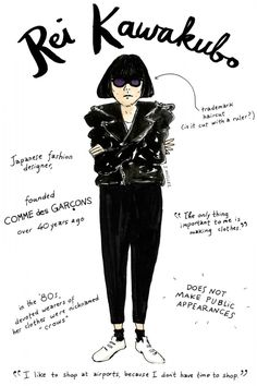 Joana Avillez's illustrations of famous fashion people ... does she cut it with a ruler???