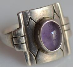 Vintage Sterling Silver Ring With Amethyst Stone 925 Stamped Amethyst Stone, Vintage Rings, Rings For Men, Silver Rings, Stamp, Sterling Silver, Antiques, Ebay, Jewelry