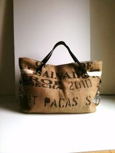 Or maybe this one... Large TOTE in burlap by jalmodovar on Etsy, $98.00