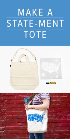 Make a State-Ment Tote by #Darbysmart  DIY kits are much fun.